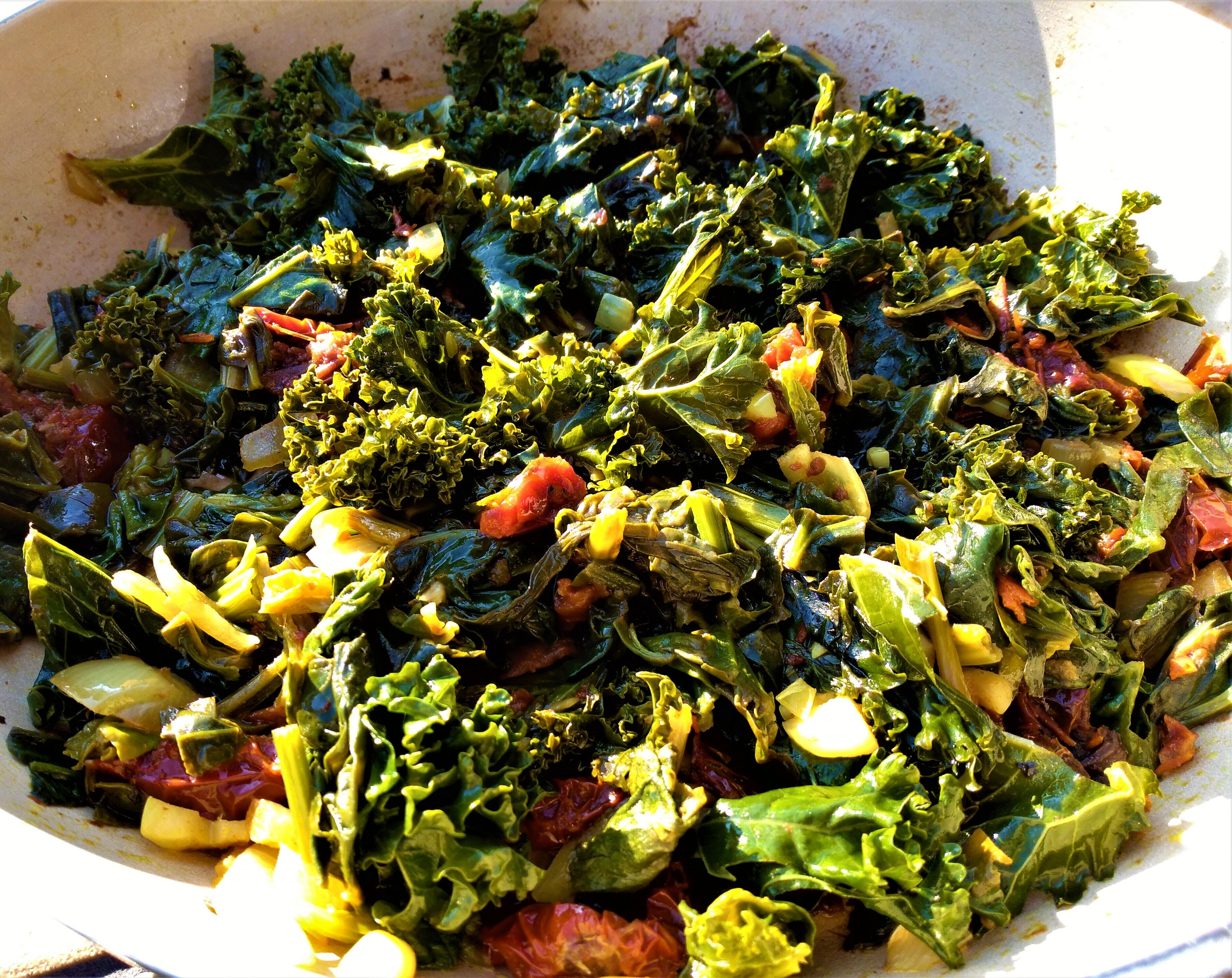 Zielone danie w jesiennej mgle🙂